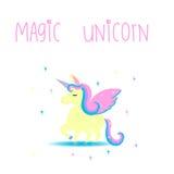 Nettes magisches unicon Lizenzfreies Stockbild