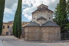 Nettes Marksteindetail von einer alten spanischen Stadt Gerona Stockfoto