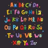 Nettes Monster-Alphabet vektor abbildung