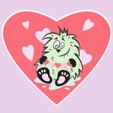 Nettes Monster mit Herzen Lizenzfreies Stockfoto