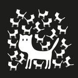 Nettes Muster mit Katzen Lizenzfreies Stockfoto
