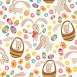 Nettes Muster Ostern mit Häschen Lizenzfreie Stockfotografie