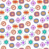 Nettes nahtloses abstraktes Muster mit ethnischen Elementen Stockfoto