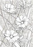 Nettes nahtloses mit Blumenmuster für eine gute Laune vektor abbildung