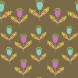 Nettes nahtloses mit Blumenmuster und nahtloses Muster in Schalter Lizenzfreies Stockbild