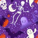 Nettes nahtloses Muster Halloweens Stockbilder