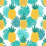 Nettes nahtloses Muster mit Ananas stock abbildung