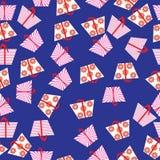 Nettes nahtloses Muster mit Geschenkboxen,  Stockfoto