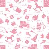 Nettes nahtloses Muster mit Vielzahl von Kindern \ 's spielt: Schwingh vektor abbildung