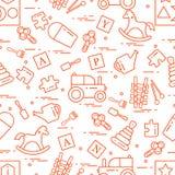 Nettes nahtloses Muster mit Vielzahl von Kindern \ 's spielt: Schwingh lizenzfreie abbildung