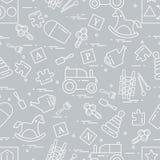 Nettes nahtloses Muster mit Vielzahl von Kindern \ 's spielt: Schwingh stock abbildung