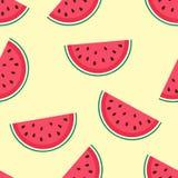 Nettes nahtloses Muster mit Wassermelone Lizenzfreie Stockfotos