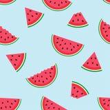 Nettes nahtloses Muster mit Wassermelone Lizenzfreies Stockfoto
