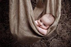 Nettes neugeborenes Schätzchen stockfotos