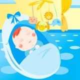 Nettes neugeborenes Schätzchenschlafen Stockfoto