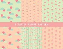 Nettes Pastellnaturmuster Lizenzfreie Stockfotografie