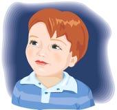 Nettes Portrait des kleinen Jungen. Vektorabbildung Lizenzfreie Stockbilder