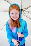 Nettes Redhead-Mädchen Lizenzfreies Stockfoto
