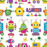 Nettes Robotersammlungsmuster Lizenzfreie Stockbilder