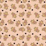 Nettes romantisches nahtloses Muster mit Flusspferden Lizenzfreie Stockfotos
