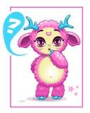Nettes rosa Monster der Karikatur Lizenzfreies Stockfoto