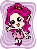 Nettes rosafarbenes Elfmädchen Stockfoto