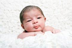 Nettes Säuglingsgesicht Stockfoto