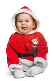 Nettes Santa Claus-Baby lokalisiert auf Weiß Stockfoto