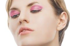 Nettes Schönheitsnahaufnahmeporträt von jungem blondem Stockbild
