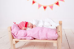 Nettes schlafendes Schätzchen Lizenzfreies Stockfoto