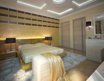 Nettes Schlafzimmer Lizenzfreies Stockbild