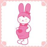 Nettes schwangeres Häschen lizenzfreie abbildung
