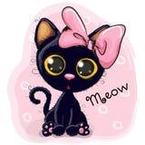 Nettes schwarzes Kätzchen Lizenzfreies Stockfoto