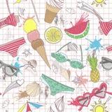 Nettes Sommerzusammenfassungsmuster. Nahtloser Musteresprit Stockfotos