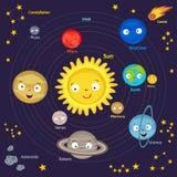 Nettes Sonnensystem stock abbildung