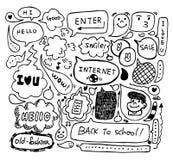 Nettes Sprachegekritzel Stockbilder