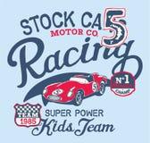 Nettes Stockcarrennenteam stock abbildung