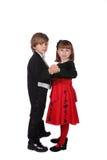 Nettes Tanzen der jungen Kinder Stockfoto