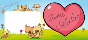 nettes Teddybärdesign mit Valentinsgrußherzen - Vektor Stockfoto
