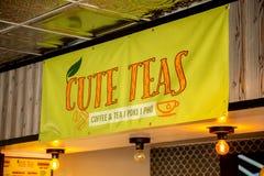 Nettes Teerestaurantzeichen lizenzfreie stockbilder