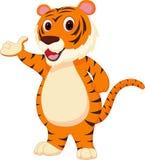 Nettes Tigerkarikaturdarstellen Stockfotografie