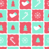 Nettes und einfaches Weihnachtsmuster Stockbilder