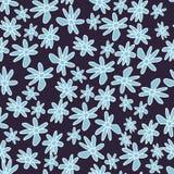 Nettes und modisches Blumenvektormuster mit Tulpen, Mohnblumenblumen und Beeren Stockfotografie