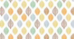 Nettes Vektorherbst-Blattmuster Abstrakter Fahnendruck mit Blättern Elegante schöne Naturverzierung für Gewebe stock abbildung