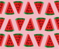 Nettes Wassermelonenscheibenmuster Stockbilder
