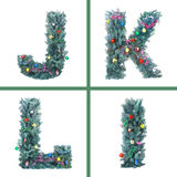 Nettes Weihnachtsalphabet Lizenzfreies Stockbild