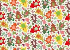 Nettes Weihnachtsbaum-Gemisch stock abbildung