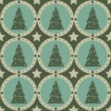 Nettes Weihnachtsbaummuster stock abbildung