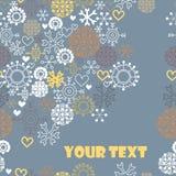 Nettes Weihnachtsmuster mit Platz für Text lizenzfreie abbildung