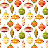Nettes Weihnachtsnahtloses Muster Lizenzfreies Stockbild